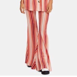 NEW NWT Free People Flare Pant Stripe XS